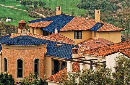 SRS Energy makes solar roofing tiles designed to blend in with Southern California?s traditional clay versions.http://pubs.acs.org/cen/email/html/cen_business_87_8724bus1.html