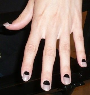 Color block nails.