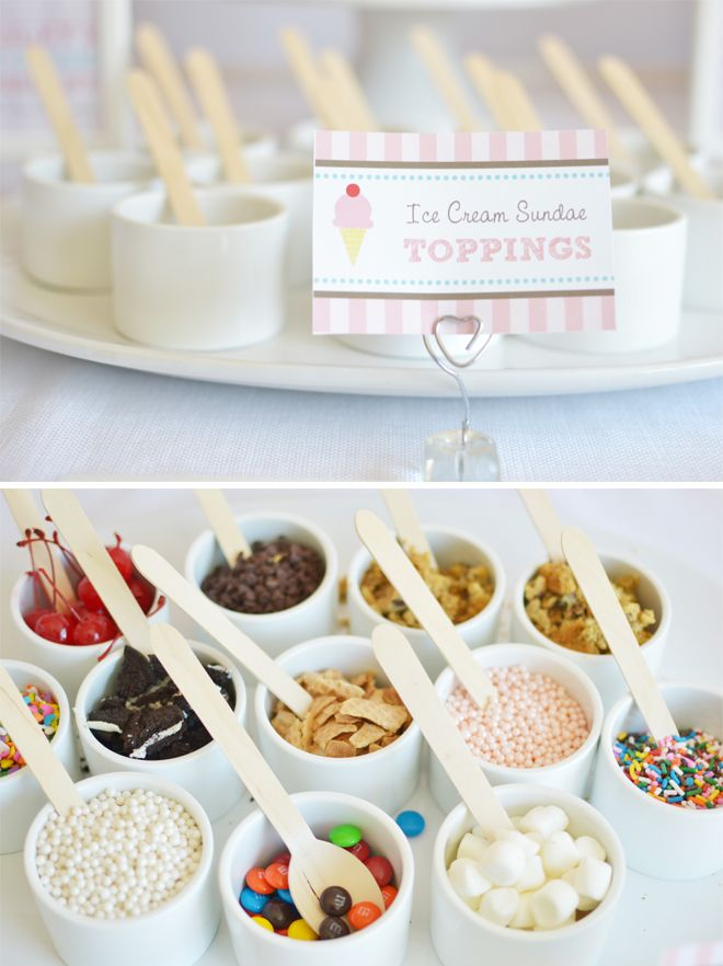 ice cream parlour party - toppings! yum!