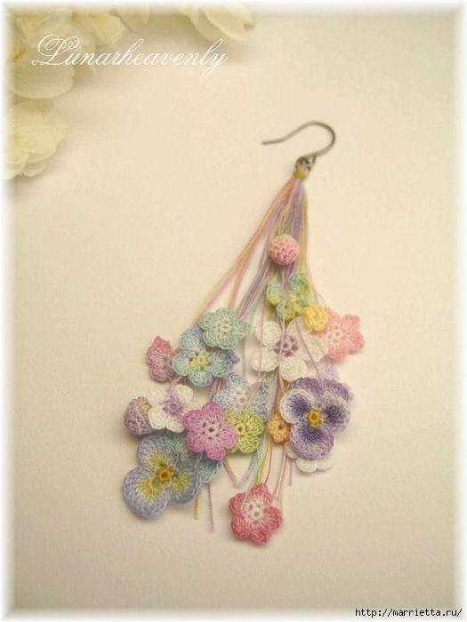 Украшение и декор предметов цветочками крючком (26) (525x700, 170Kb)