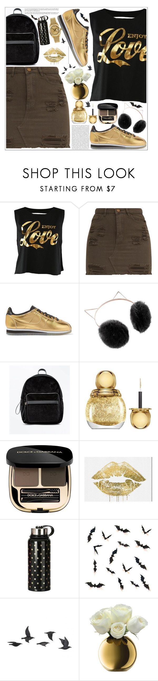 """""""style"""" by lena-volodivchyk ❤ liked on Polyvore featuring NIKE, LC Lauren Conrad, New Look, Christian Dior, Dolce&Gabbana, Oris, Oliver Gal Artist Co., Jayson Home, LSA International and Rolex"""