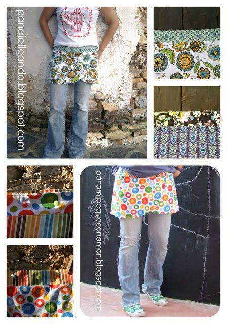 Para mi peque con amor: Falda sobre pantalones reversible. Tutorial