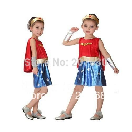new Cosplay Costume Superman Supergirl Costumes for kids Fancy dress Halloween Party decorations supplies children gifts