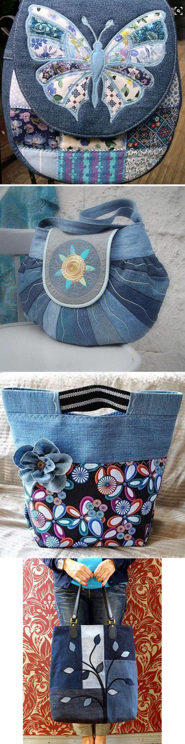 Из джинсов в летнюю сумочку — идеи по переделке и украшению вышивкой