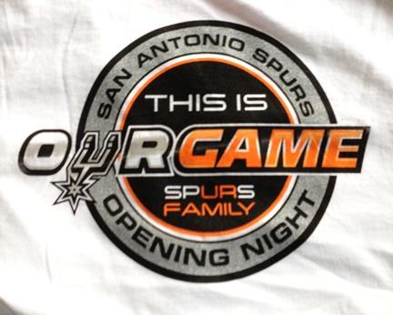 San Antonio Spurs Game Day Give-a-way! Get one at Opening Night tonight at 8:30pm! #basketball #freebies #promos #logo #tshirt #screenprint