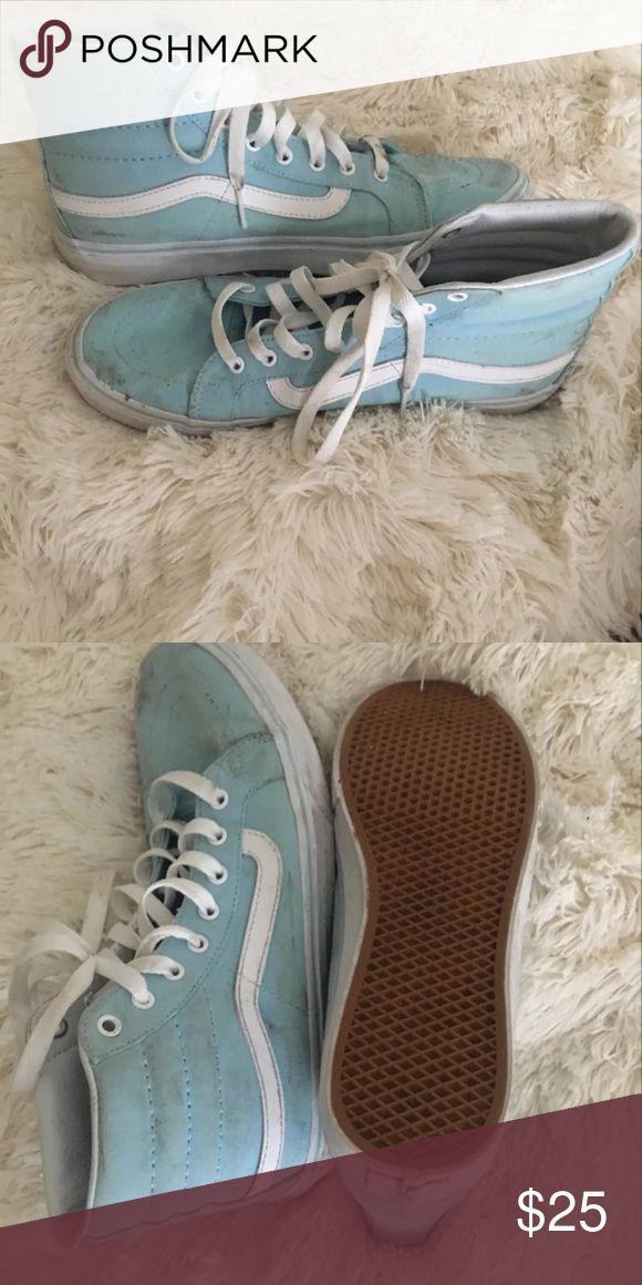 Sky blue vans Little dirty but can wash! Vans Shoes Athletic Shoes