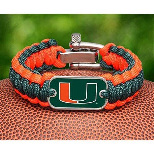 Miami Hurricanes Paracord Bracelet