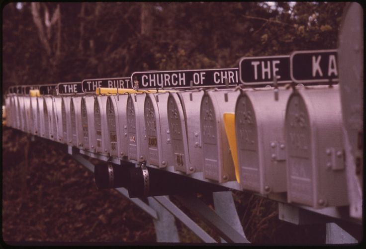 New mailboxes in an area of land development near Manuka Park in the Kau District, on the southwestern side of the island, November 1973 | Flickr - Photo Sharing!