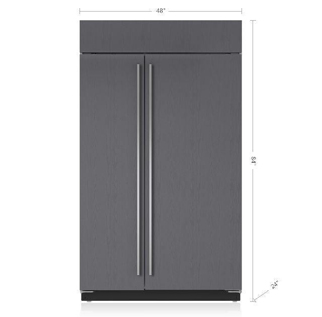 "Sub-Zero 48"" Built-In Side-by-Side Refrigerator/Freezer with Internal Dispenser - Panel Ready BI-48SID/O"