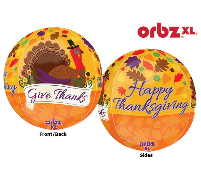Gather together to give thanks with this fun Orbz Balloon! #burtonandburton