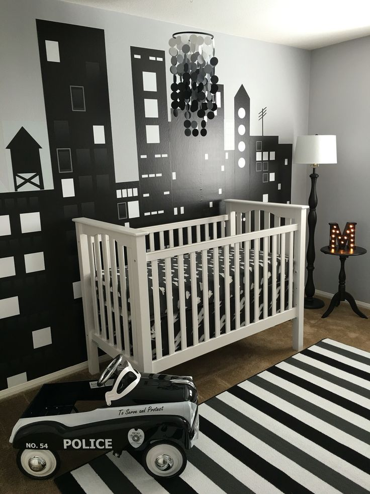 Building decals would be a great gift for nurseries, playrooms or bedrooms. Repositionable fabric decals come as individual buildings. #nurserydecor #decals