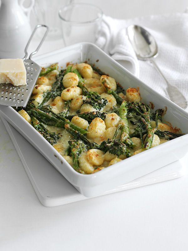 Three cheese and broccoli gnocchi