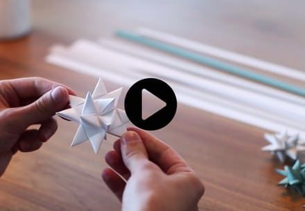 Julestjerner av papir DIY-video