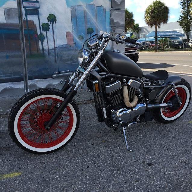 Miami Honda: #Suzuki #Intruder #bobber #HOTUSA #custombike #sobe #miami
