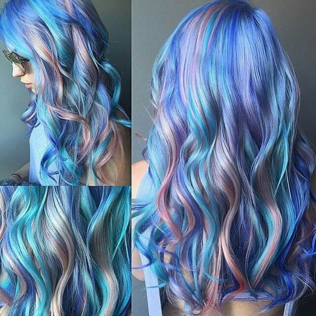 How To Pull Off The Most Glamorous Pink: 1000+ Ideas About Blue And Pink Hair On Pinterest