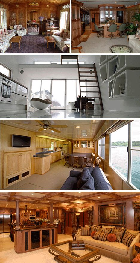 Boat Houses And Interiors | Whatever Floats Youru2026 House: 16 Amazing House  Boats Photo
