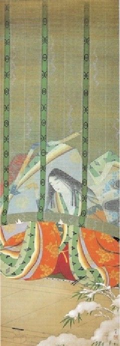 上村松園 - 雪 by Uemura Shoen (1875-1949), Japanese art  | #japan #japanese_lifestyle #japanese_art