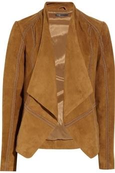 Vince Draped suede jacket NET-A-PORTER.COM - StyleSays