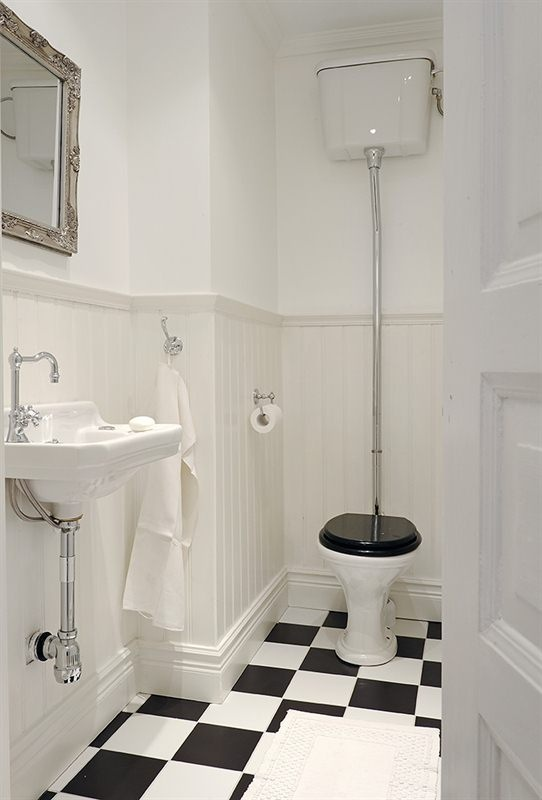 I want chequerboard flooring in my wet rooms