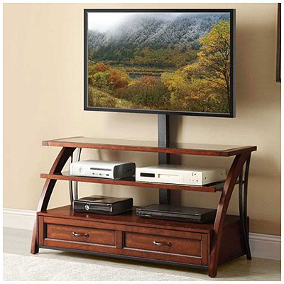 "50"" Mounted Wood TV Stand at Big Lots. $199"