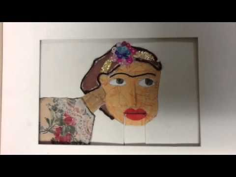 Frida By Mini Matisse student—I am doing this 4th quarter with my middle schoolers!