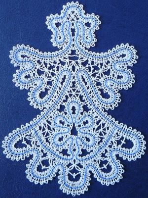 Advanced Embroidery Designs - FSL Battenberg Angel of Hope Lace