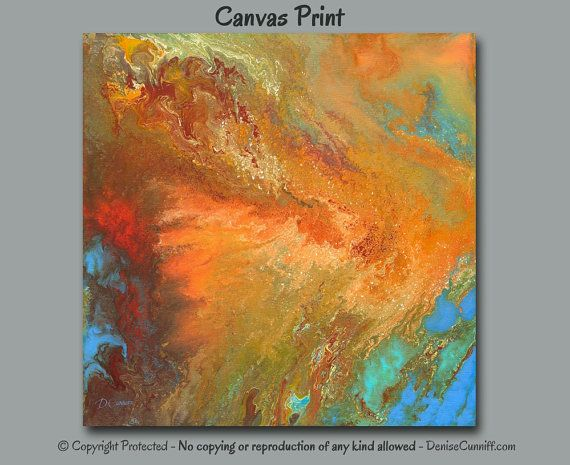 Large Wall Art, Abstract Painting, Canvas Art Print Square