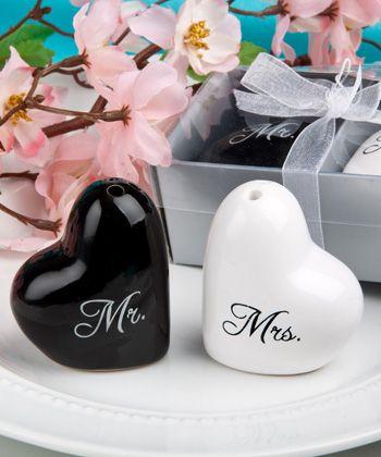 Mr And Mrs Salt Pepper Shaker Set Wedding Giftswedding Partieswedding Favours