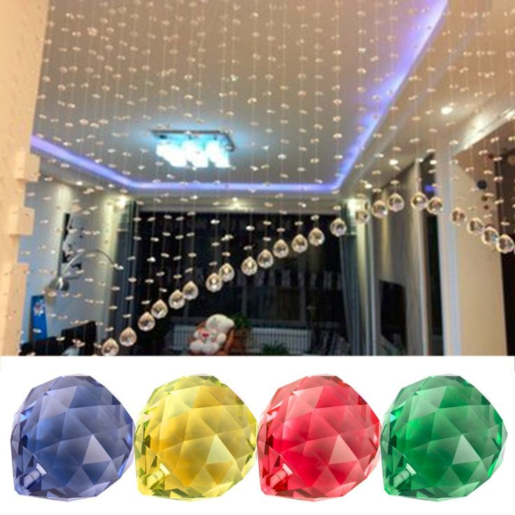 1pc 4cm Crystal Ball Ornament Hanging