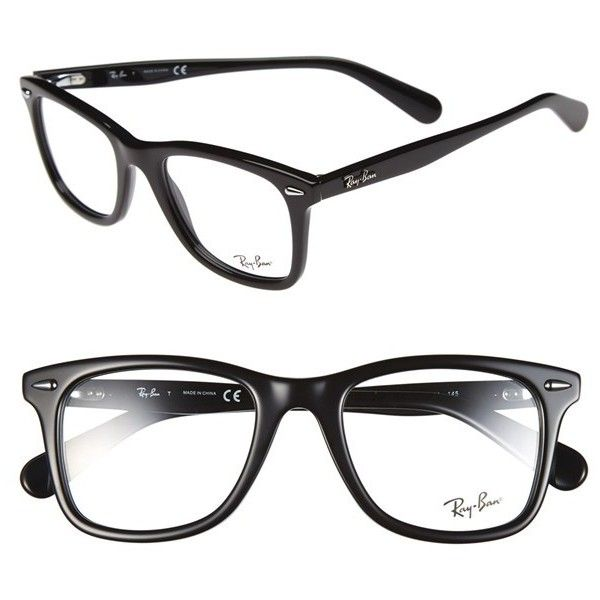 Womens Ray-Ban Icon - Wayfarer 52mm Optical Glasses ($195) ❤ liked on Polyvore featuring accessories, eyewear, eyeglasses, glasses, sunglasses, ray ban wayfarer, wayfarer sunglasses, wayfarer eyeglasses, ray-ban and ray ban eye glasses
