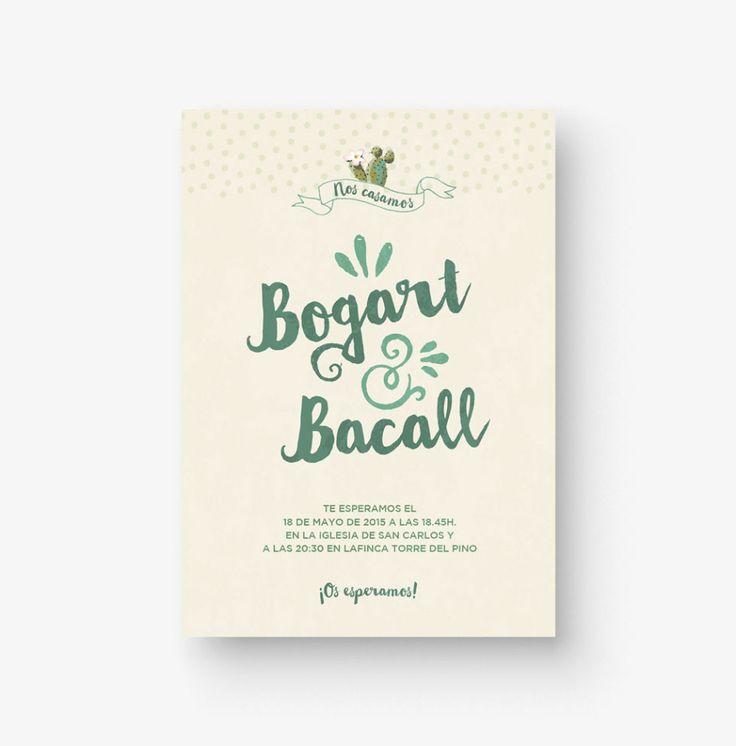 """Invitación de boda """"Arizona"""". Diseño Bogart y Bacall - The Wedding Shop."""