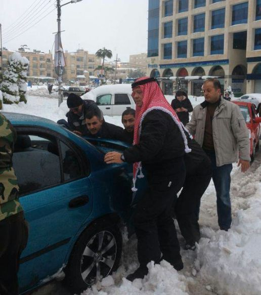 The King Of #Jordan Helps Family Move Car Stuck In Snow! Hit the pic to watch the the kind hearted video.