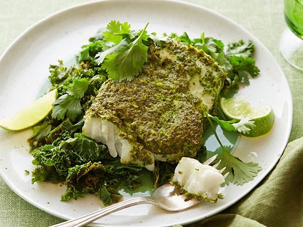 Halibut Green Curry