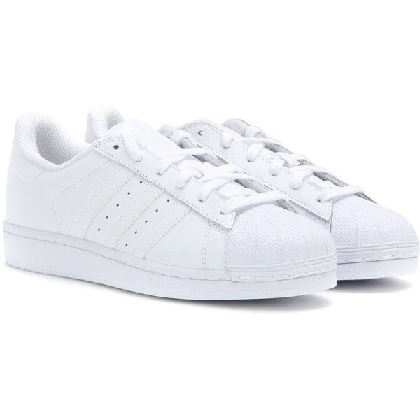 White leather shoes, White leather sneakers