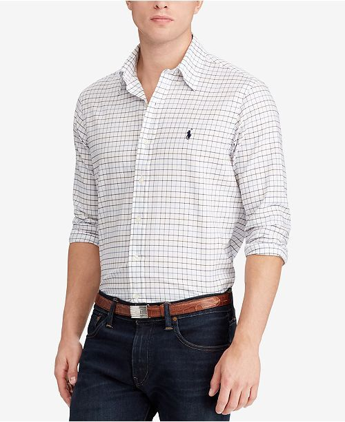 5cd523adf3fa Polo Ralph Lauren Men's Classic-Fit Checked Twill Shirt - Casual  Button-Down Shirts - Men - Macy's