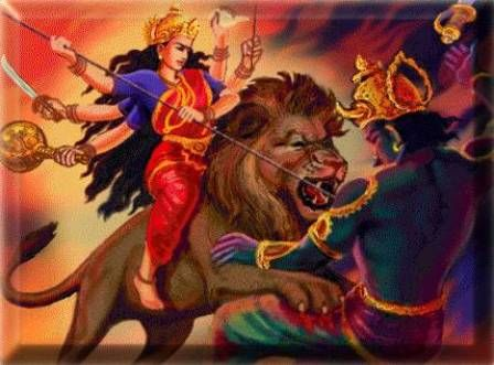 According to Hindu mythology Durga Puja is a celebration of the victory of Goddess Durga over the evil demon Mahishasura.