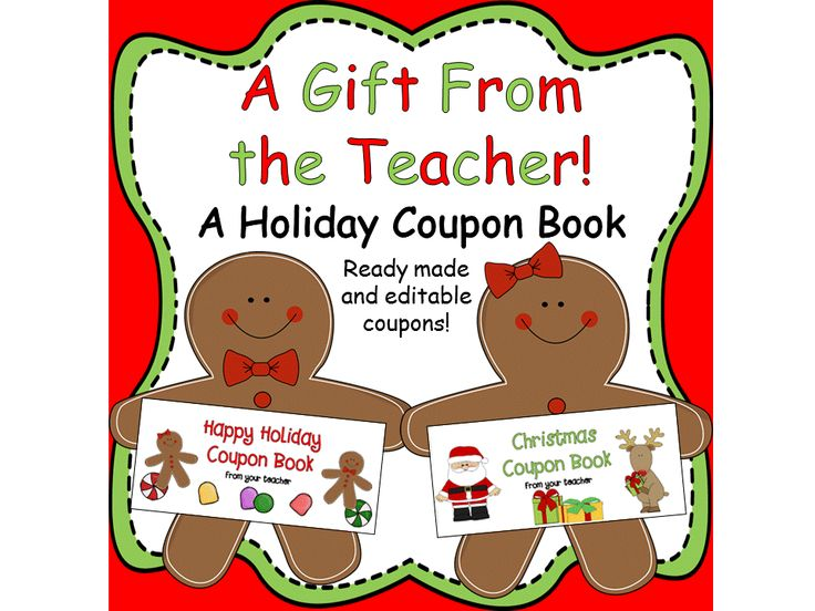Looking for a last minute, inexpensive holiday gift for your class? This is it! Your students will love these fun coupon books. Two different cover styles to choose from! There are 15 ready-made coupons to choose from PLUS a set of six coupons with cute graphics that are editable right on your computer! Use just some of the coupons or use them all! The possibilities are endless!