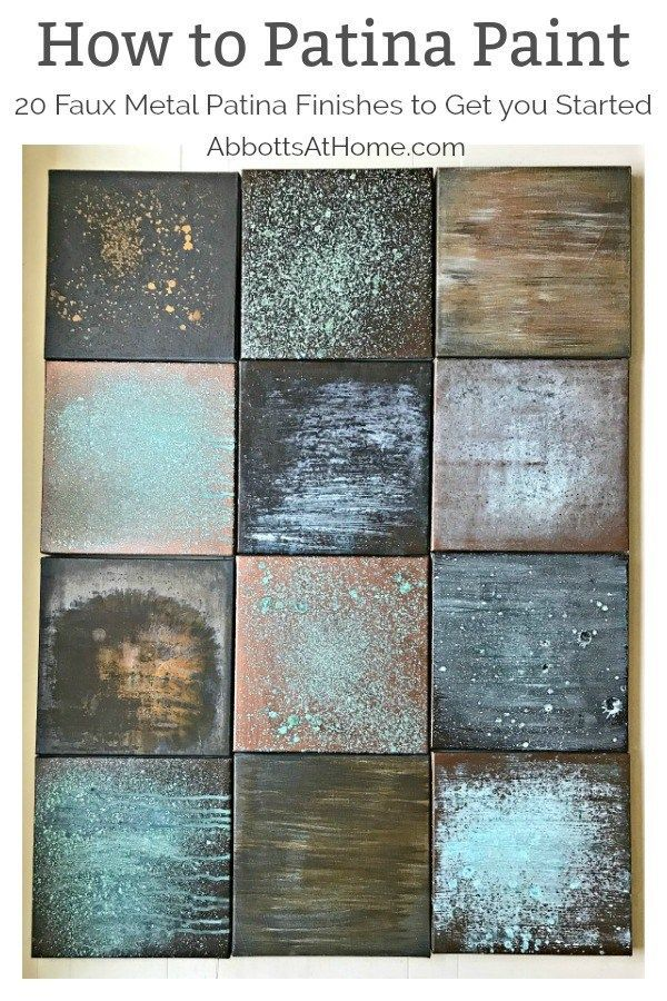8f644a437c7 Over 20 different Patina Paint Faux Metal Finish examples with info on how  to DIY them. Great guide for picking the look you want before buying.