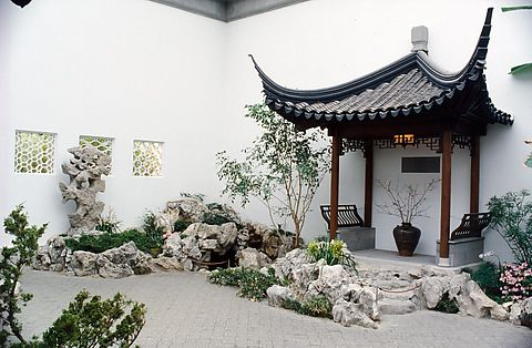 The Astor Chinese Garden Court at the Metropolitan Museum of Art - Escape the throngs gawking at the Temple of Dendur and the crowds in the new Islamic wing. Here, in one of the Met's many backwaters, imagine yourself a Ming Dynasty scholar – the wooden structure surrounding was constructed by Chinese workers using 4th century techniques,  and the central garden is based on a famed scholar's garden in Suzhou, China.