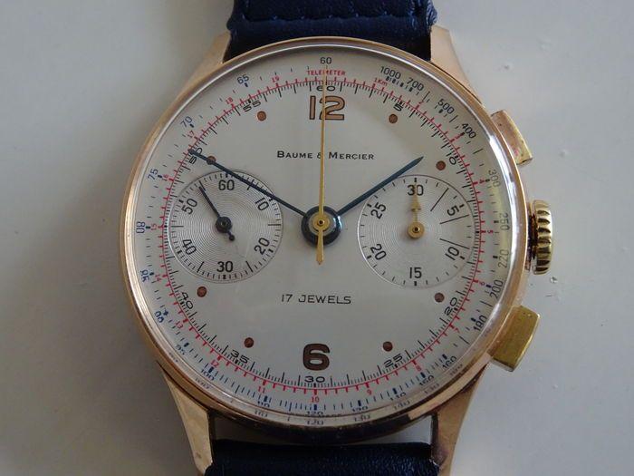 6995ecf98b32 Baume   Mercier – men s chronograph - 1940s 1950s - Catawiki ...