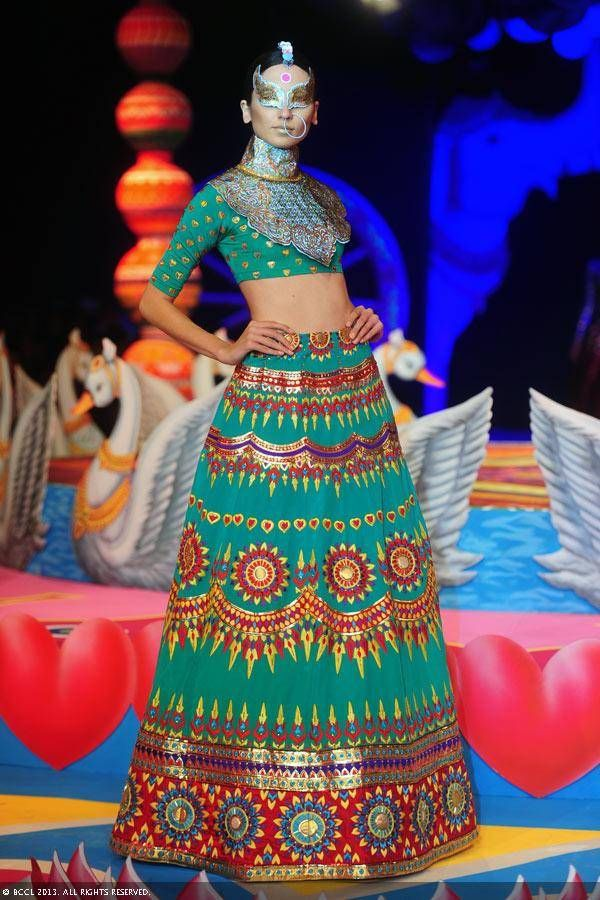 Manish Arora. Delhi Couture Week. 2013. Women's Fashion. Indian Couture. Wardrobe fashion indian wedding bridal inspiration ideas| Stories by Joseph Radhik