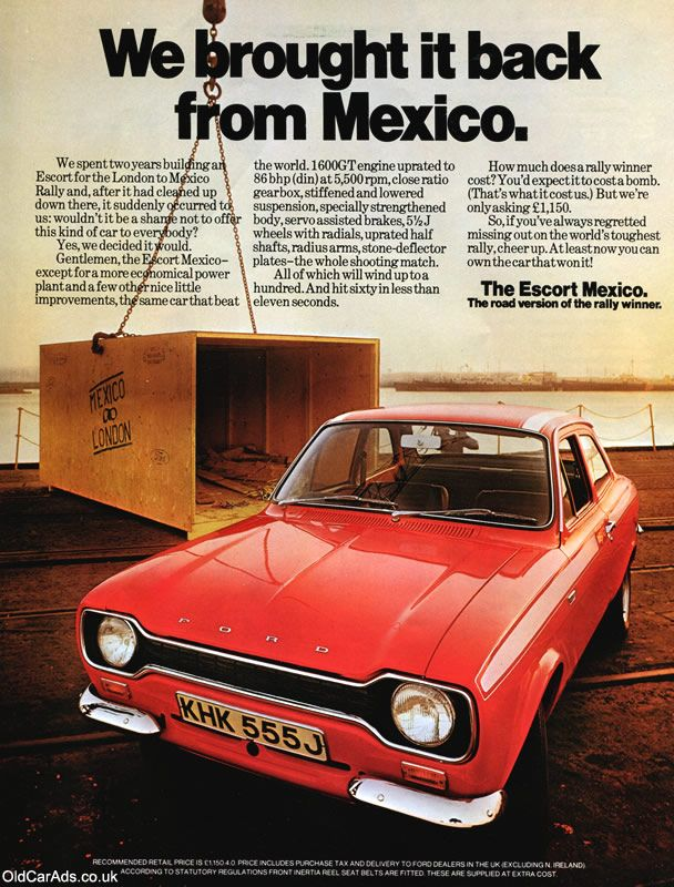 1970 Ford Mexico - We brought it back from Mexico - Original Ad