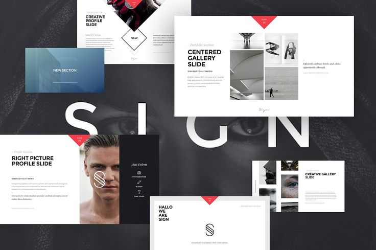 """SIGN #deck template contains more than 100+ unique slides. Original #design & powerful features."" https://creativemarket.com/?utm_content=bufferfcd64&utm_medium=social&utm_source=pinterest.com&utm_campaign=buffer"