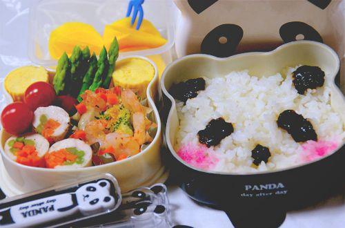 Kawaii panda sushi bento
