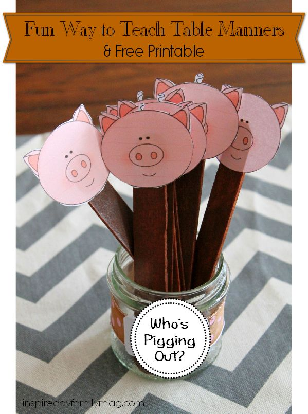 A Fun Way to Teach Table Manners to Kids & Free Printable