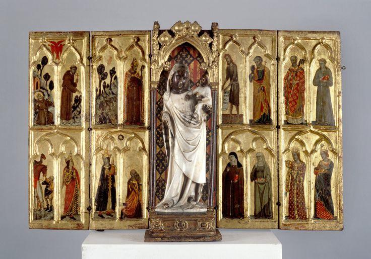 Tino di Camaino (successor), Travel altar with Black Madonna, Naples, 1340, Moravská galerie v Brně / Moravian Gallery, Brno, © Moravská galerie v Brně / Moravian Gallery, Brno