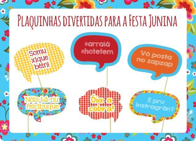 plaquinhas de festa junina - Pesquisa Google