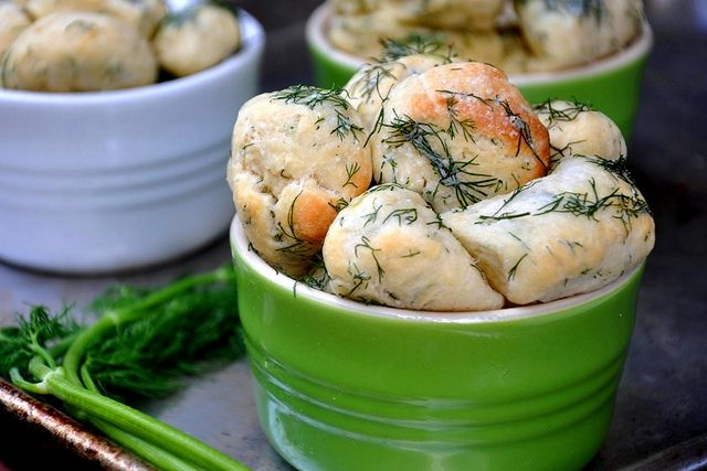 Savory Monkey Bread With Dill Butter....if i substitute out the egg ...