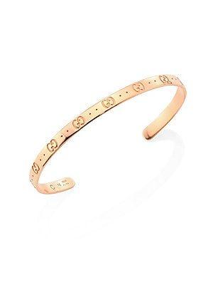 29298ff41 Gucci Icon 18K Rose Gold Bangle Bracelet | Good Stuff in 2019 ...