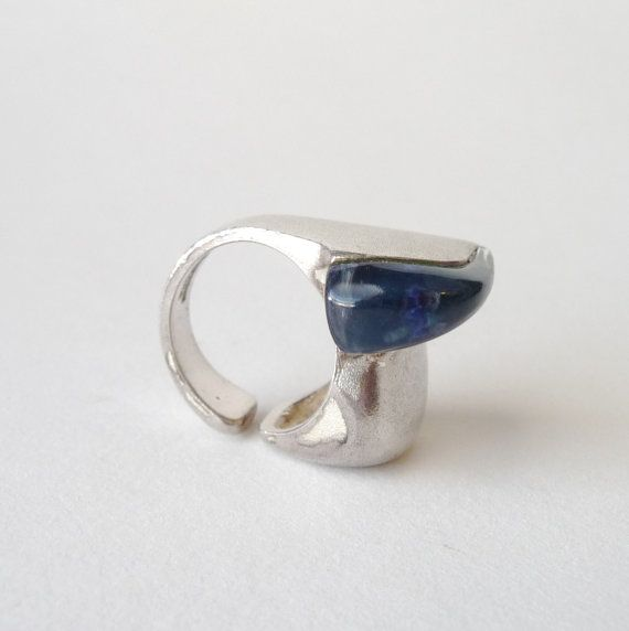 "Bjorn Weckstrom for Lapponia Sterling and Acrylic ""Darina's Tear"" Ring"